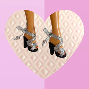Scandal Sandal in Silver