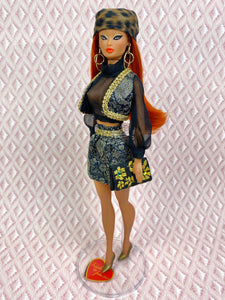 """Go-Togethers in Black and Gold"" OOAK Doll"