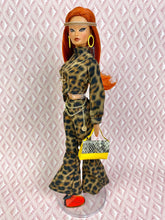 "Load image into Gallery viewer, ""Jeze-bells! in Leopard"" OOAK Doll"