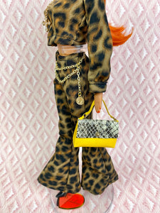 """Jeze-bells! in Leopard"" OOAK Doll"