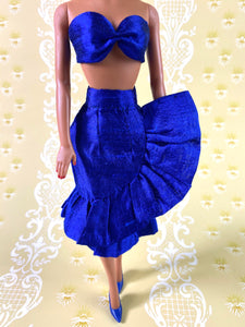 Fabiola Flounce in Cobalt - Outfit