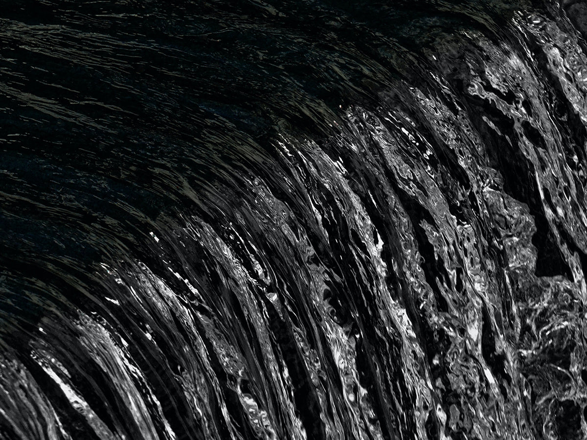 An image of water running.