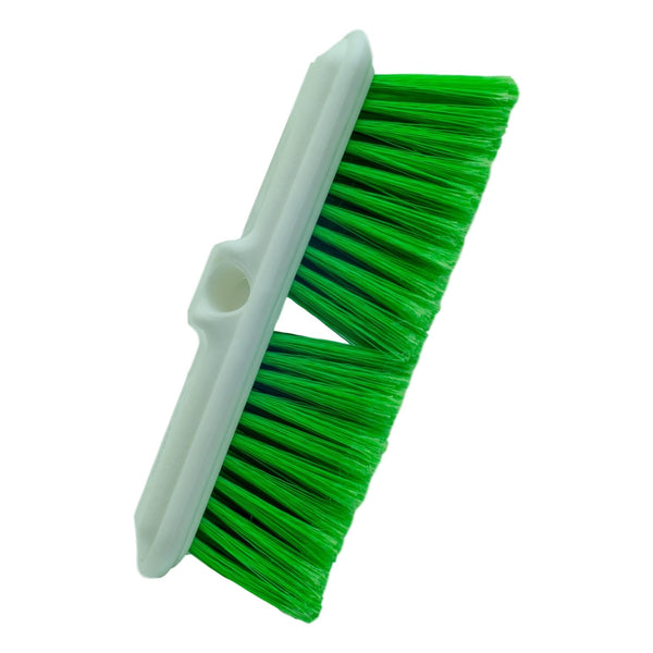 "10"" Vehicle Brush with Bumper Green Fiber"