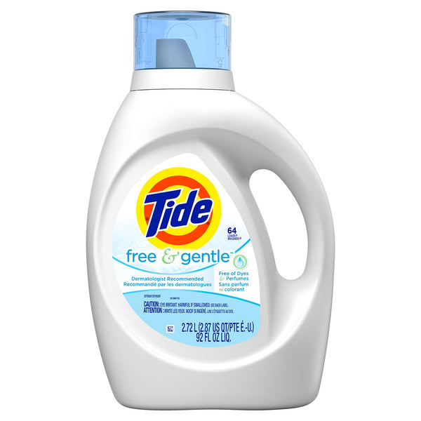 Tide Liquid HE Free and Gentle Scent - 2.72 litre