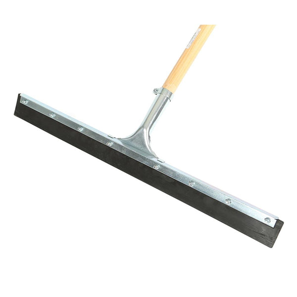 "24"" Straight Squeegee Black Rubber Assembled with 54"" Tapered Wood Handle"