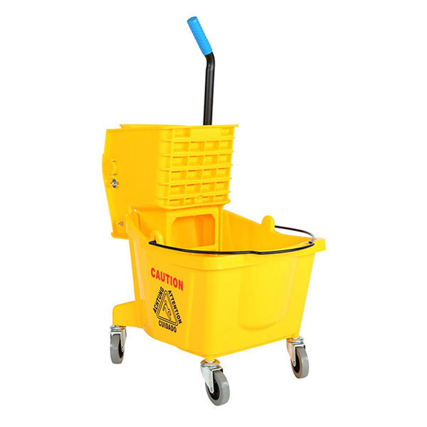 26 Qt Sidepress Bucket and Wringer Yellow