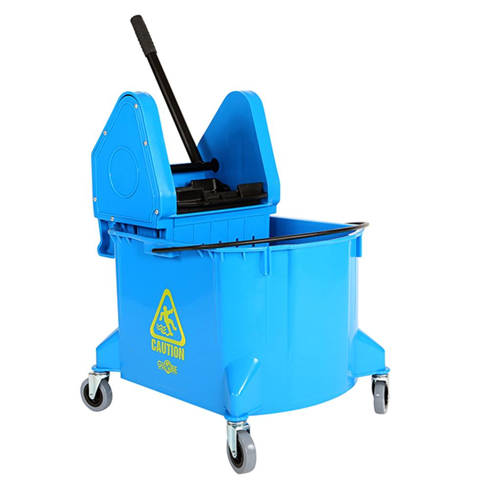 35 Qt Downpress Bucket and Wringer  Blue