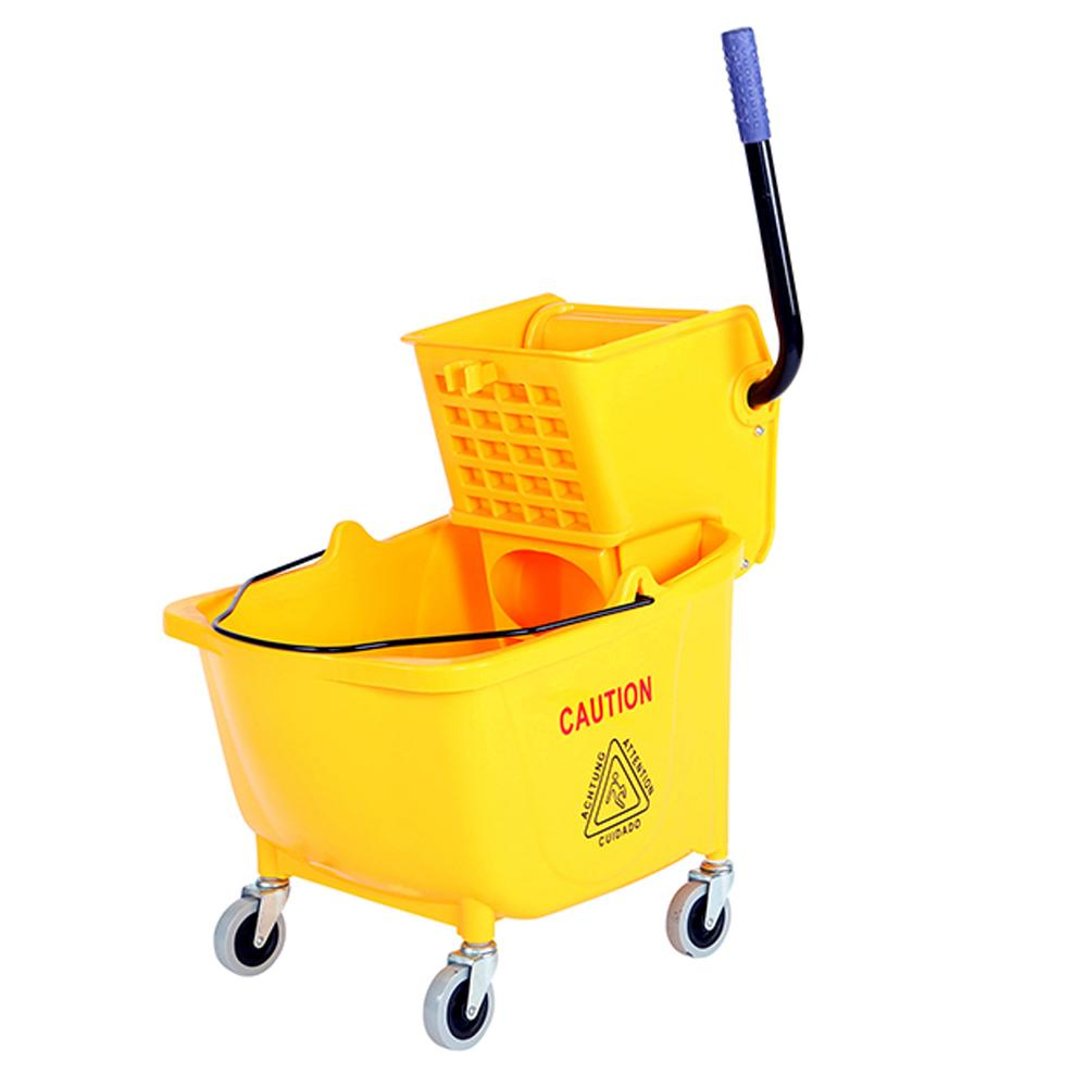 35 Qt Sidepress Bucket and Wringer Yellow