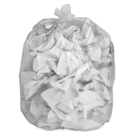 "35"" x 47"" Clear Garbage Bags"