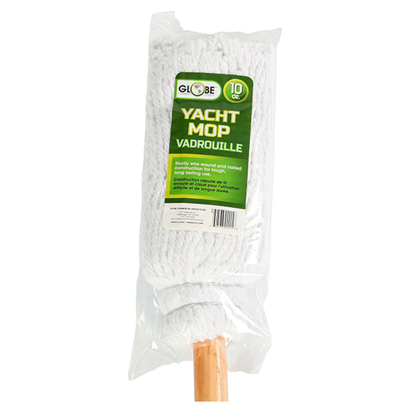 "A product image of 10oz Synthetic  Wire Bound Mop w/ 48"" Wood Handle"