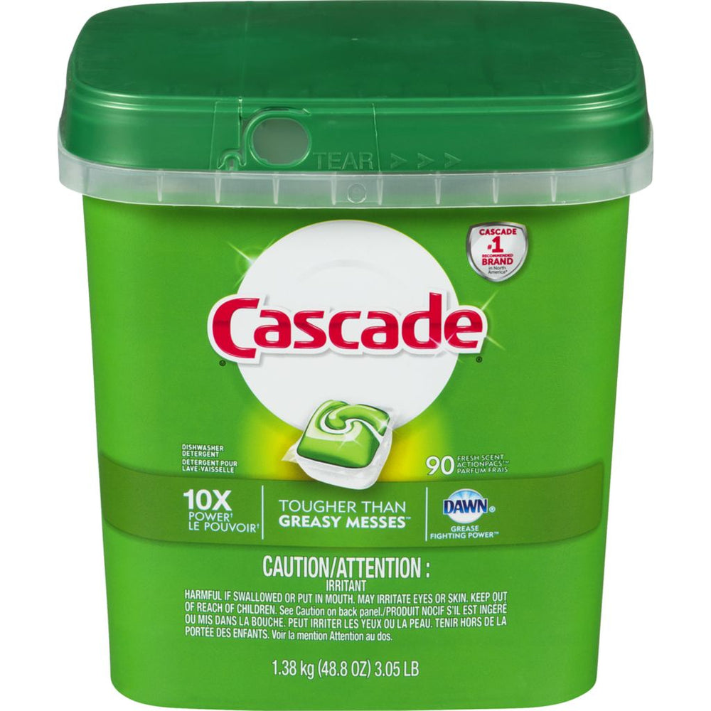 Cascade ActionPacs Dishwasher, Fresh Scent - 90 Pack
