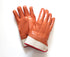 Foam Insulated Brown PVC Gloves, Safety Cuff, Smooth - 12 pairs