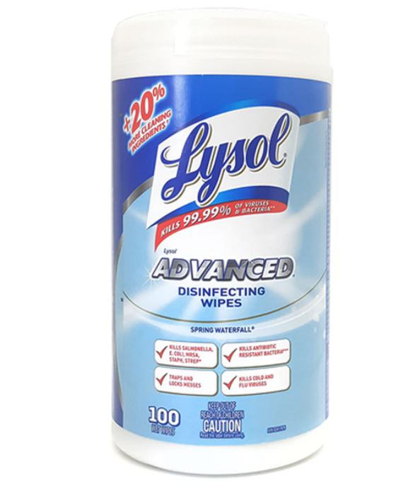 Lysol Wipes Spring Waterfall - 100 Count