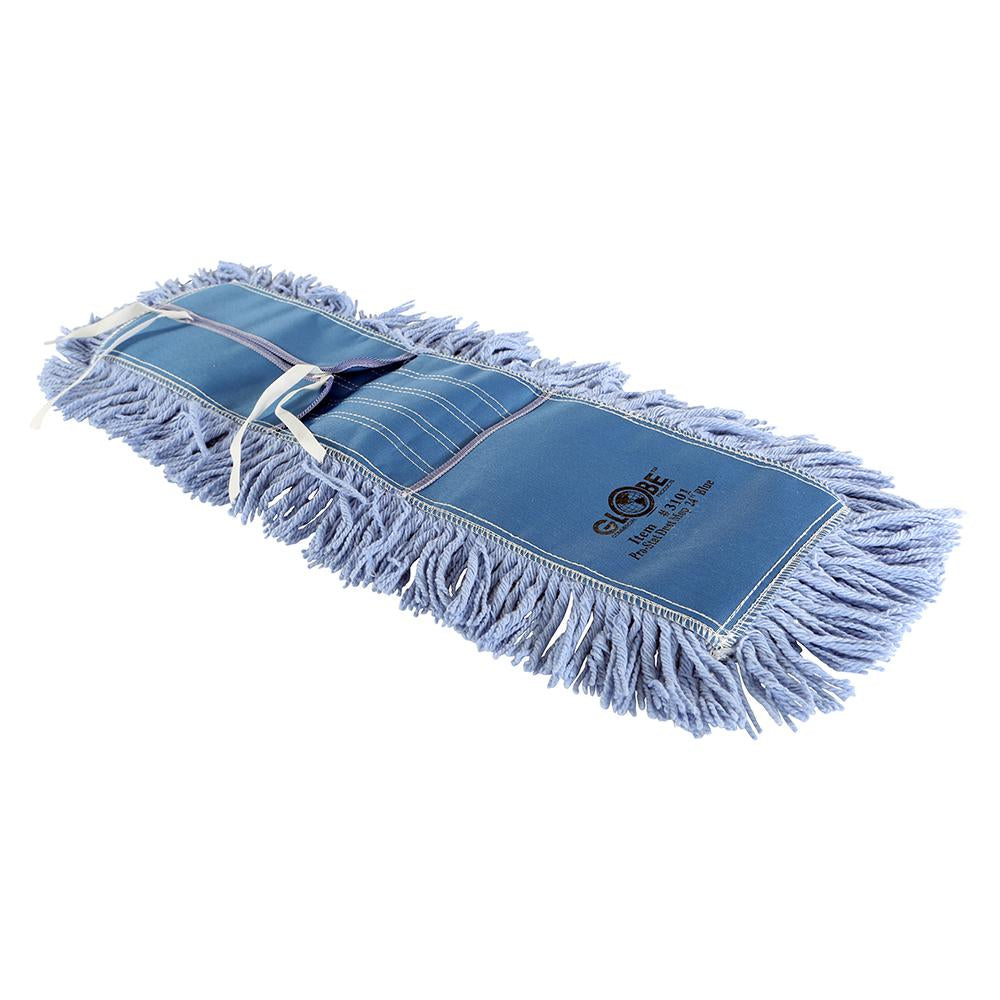 "Pro-Stat Dust mop head 24"" x 5"" Blue Tie-On"