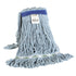 Synthetic Looped End Wet Mop Narrow Band Blue 16oz