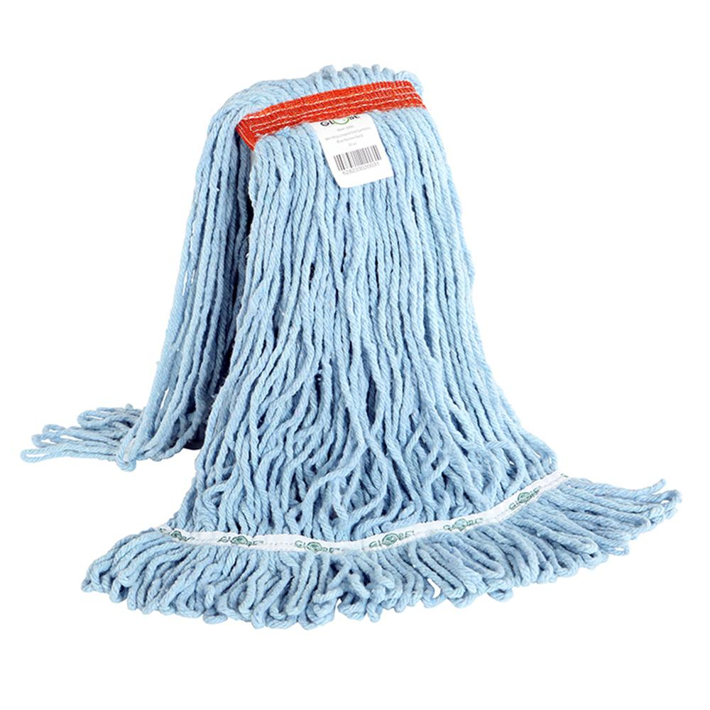 Synthetic Looped End Wet Mop Narrow Band Blue 20oz