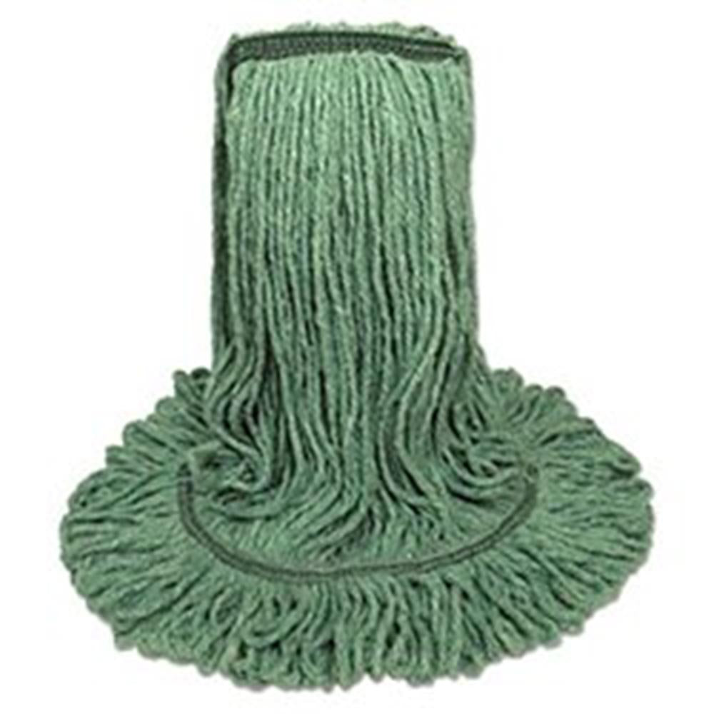 Synthetic Looped End Wet Mop Narrow Band Green 24oz