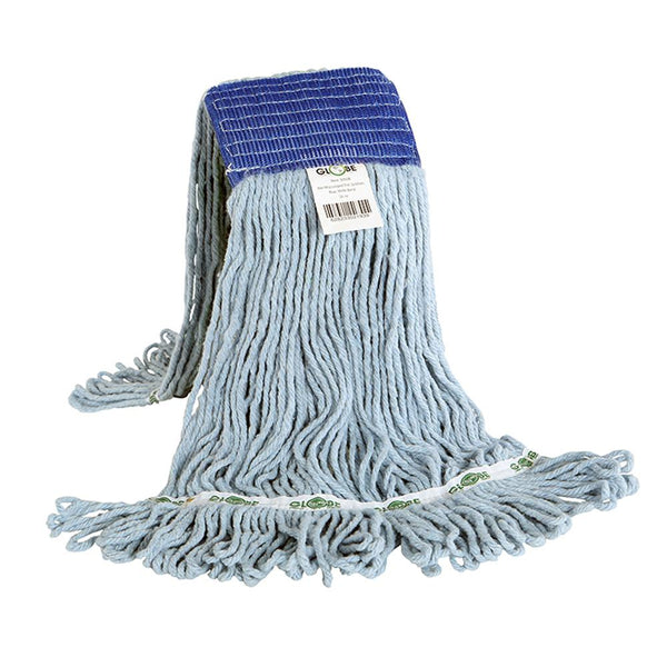 Synthetic Looped End Wet Mop Wide Band Blue 16oz