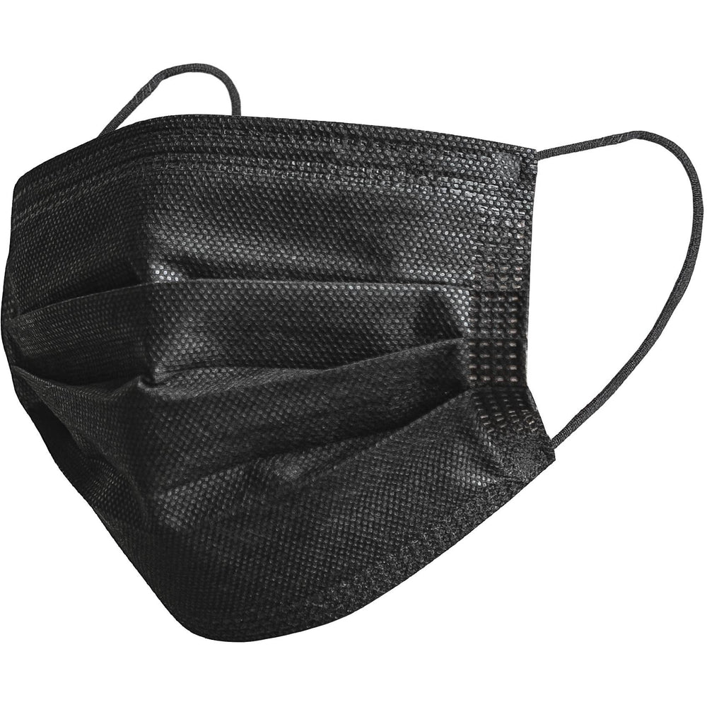 3 Ply Disposable Masks- Black - 50/box