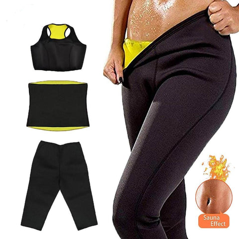 SAUNA SWEAT SUIT  with WAIST TRAINER - Beautiful Fabulina