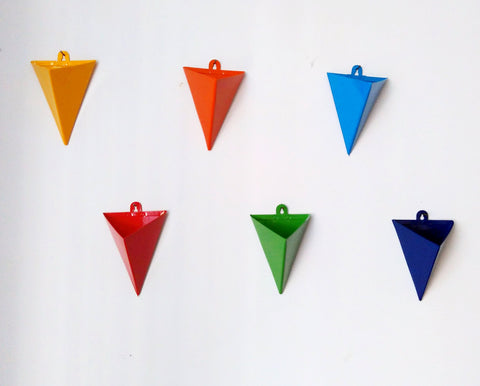 Triangular Wall Planter - Set of Six