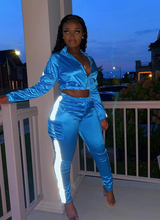 Load image into Gallery viewer, Trippy Blue Princess Tracksuit