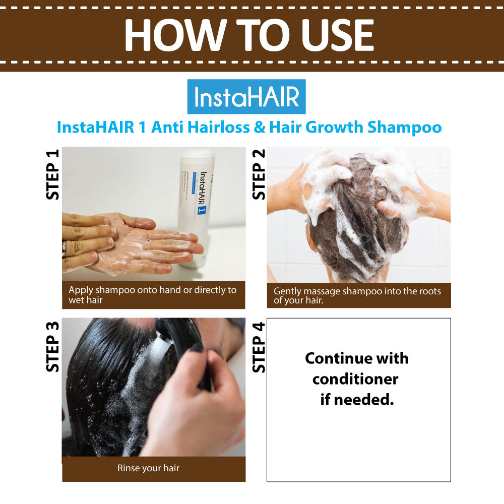 InstaHAIR 1 ANTI HAIRLOSS & HAIR GROWTH SHAMPOO (200ml)