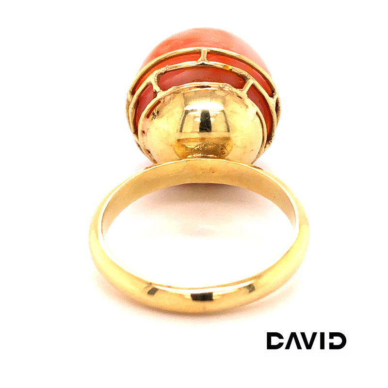 Ring Lachskoralle Gold 18k