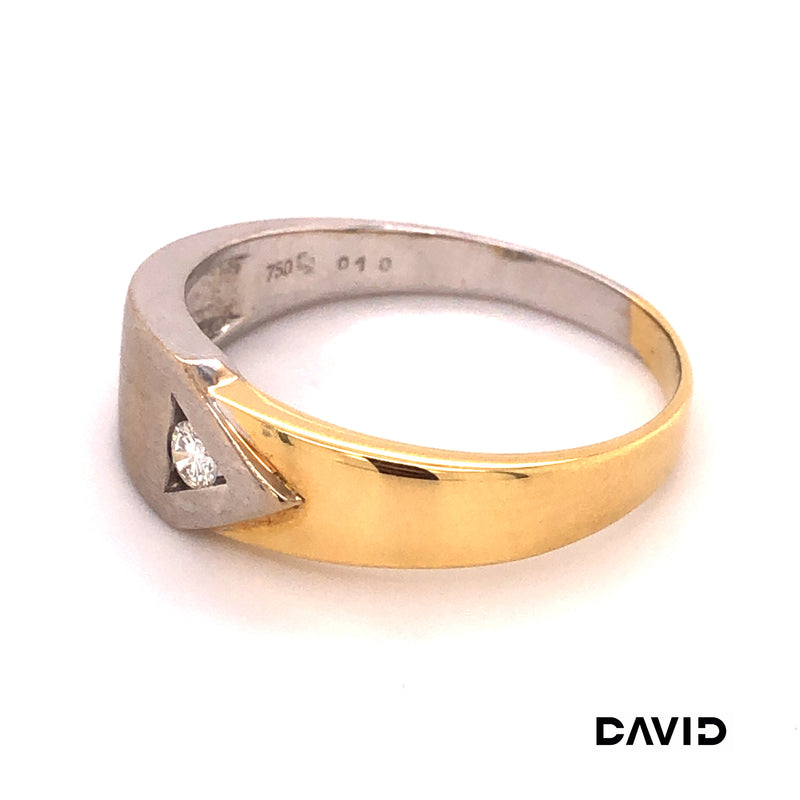 Ring Brillant Gold 18k Bicolor