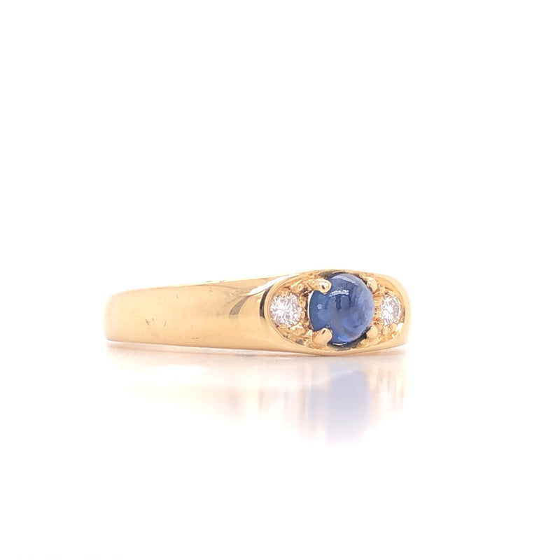 Ring Brill/Saphir Gold 18k