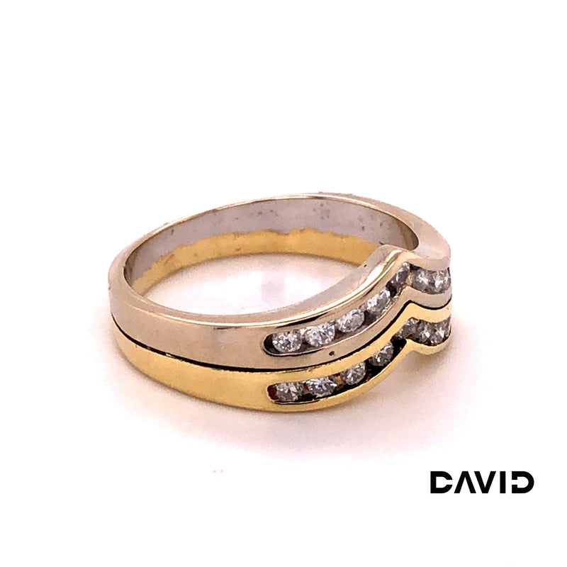 Ring Brillant Gold 14k Bicolor