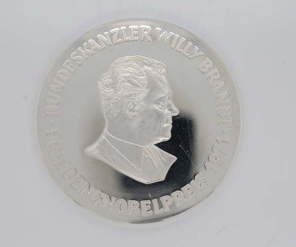 Medaille Willy Brandt Silber s999