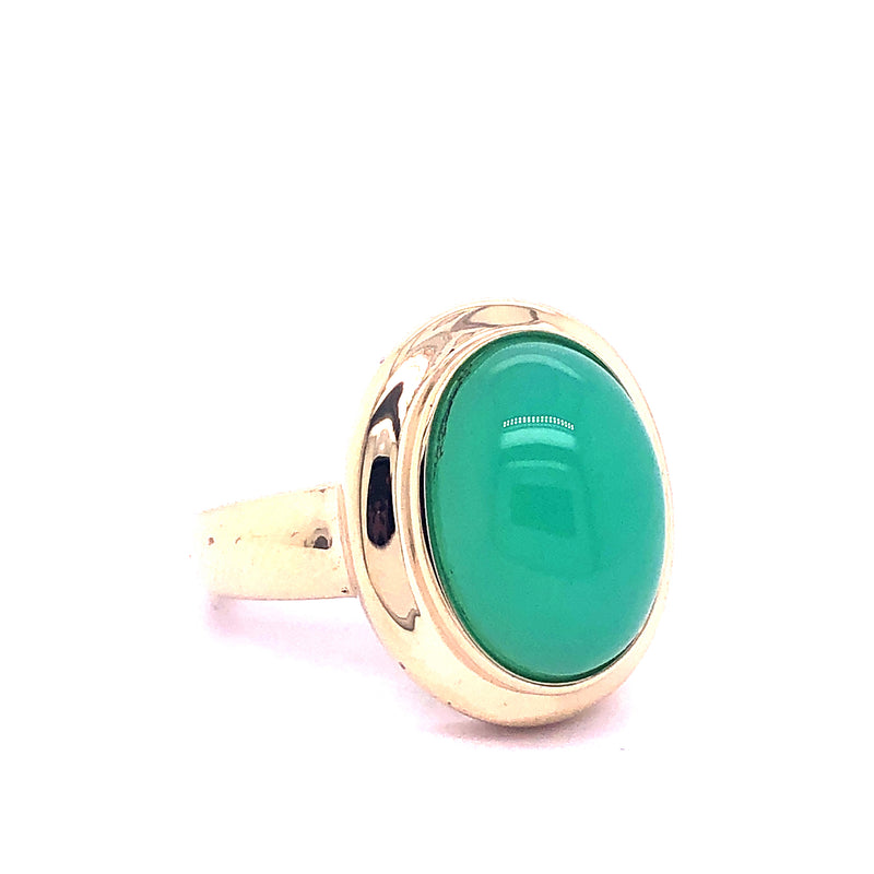 Ring Smaragd Cabbochon Gold 14k