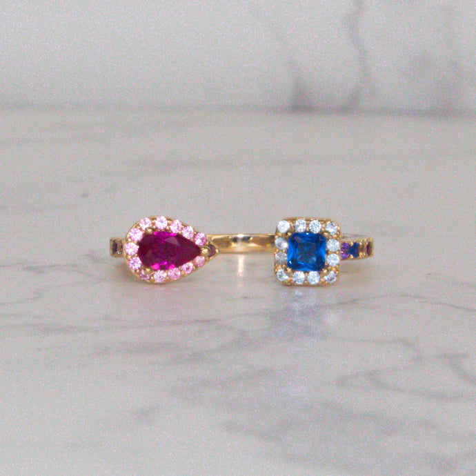 Opposites Attract Ring 💗💙