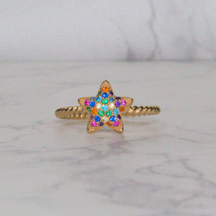 Rainbow Star Ring ⭐️