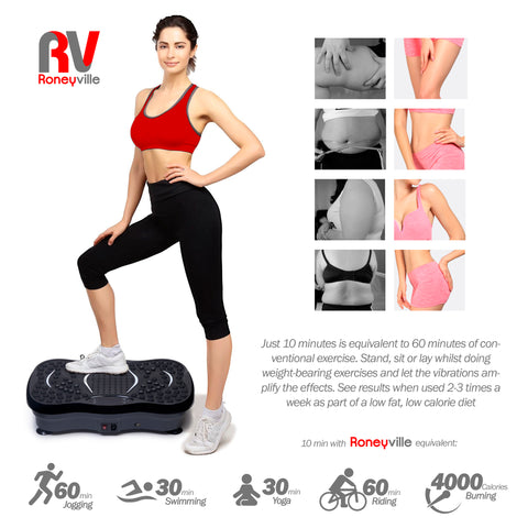 roneyville 8-in-1 vibration plate just 10 mins fitness