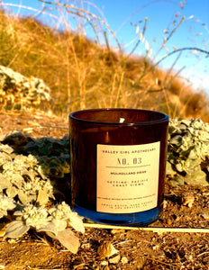 No. 3 Mulholland Drive, CA Scented Candle - Hand-Poured Coastal Breeze and Mountain Blooms