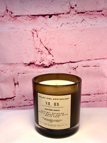 No. 8 Nature Walk Scented Candle - Hand-Poured Bergamot, Wild Sage, Gardenia