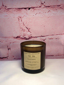 No. 6 Valley Nights Scented Candle - Hand-Poured Fig, Olive, Magnolia, Musk