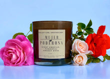 Load image into Gallery viewer, Mujer PodeROSA - Smoky Rose Handmade Soy Wax Candle