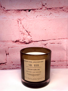 No. 818 Valley Girl OG Scented Candle - Hand-Poured Cannabis Flower, Violet, Gardenia