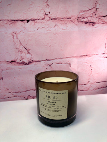 No. 2 Topanga Canyon, CA Scented Candle - Hand-Poured Patchouli and Lavender