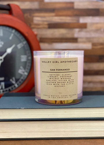 No. 11 - San Fernando - Soy Wax Candle - Classy Library and Leather Bound Books