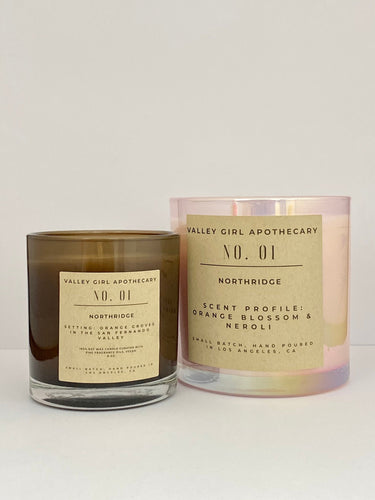 No. 1 Northridge, CA Scented Candle - Hand-Poured Orange Blossom and Neroli