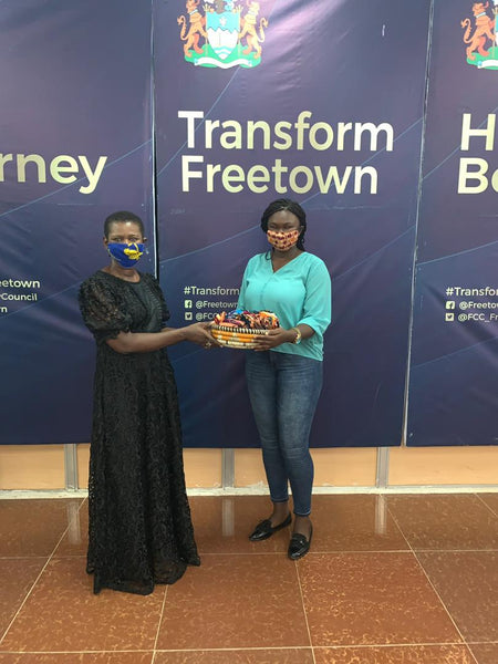 Basket of Face-masks Donated to the Freetown City Council - Sierra Leone