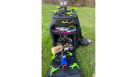 My Au Line Drone Bag With All My FPV Equipment