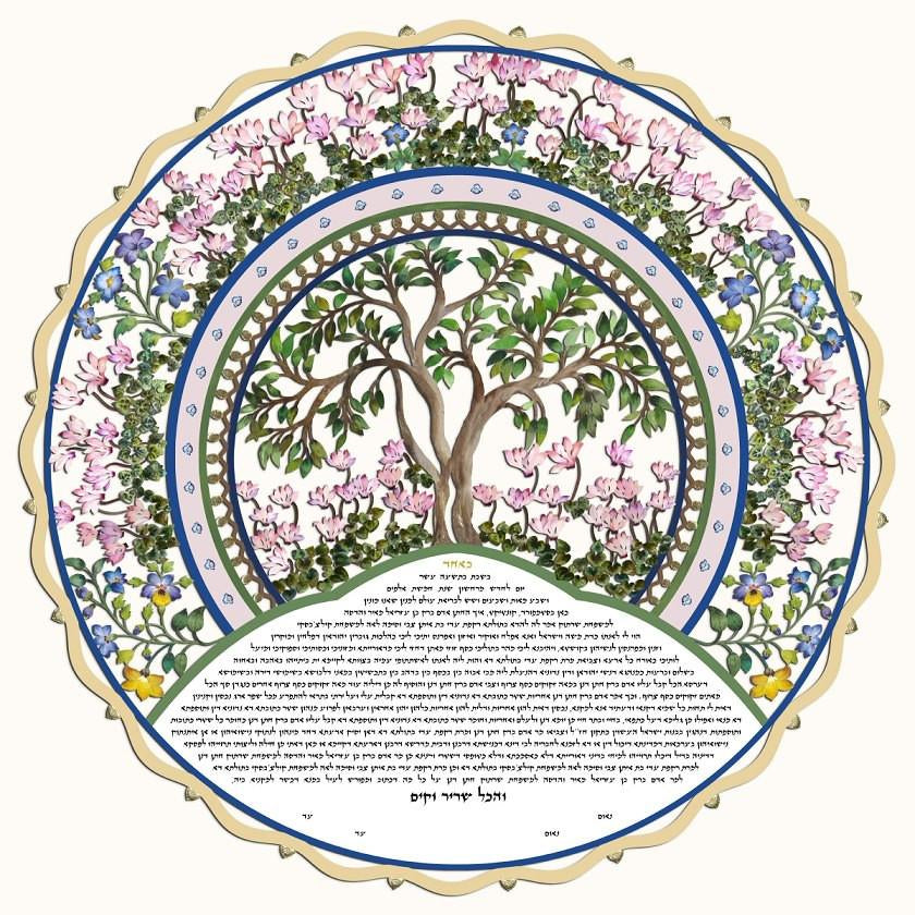 Ketubah, or Jewish wedding contract, Signing?