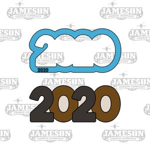 2020 Outline Cookie Cutter - Graduation or New Years Number Outline Cookie Cutter