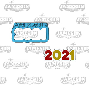 New Years 2021 Outline Cookie Cutter - Number Outline Cookie Cutter