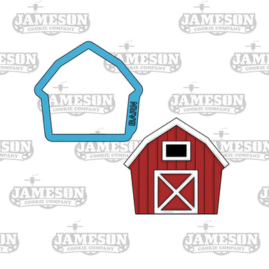 Barn Cookie Cutter - Farm Animals - Birthday Theme